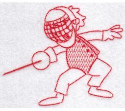 Sporty Boys Redwork Too 7
