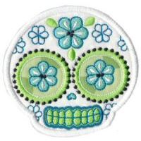 Embroidery Design Set - Sugar Skulls Applique