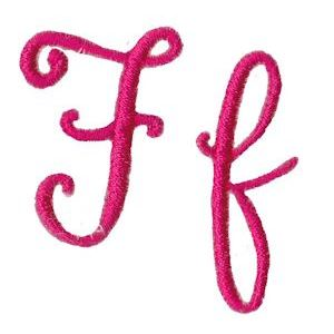 Embroidery Design Set - Sweet Peony Font F