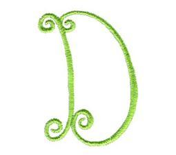Swirly Alphabet Capital D