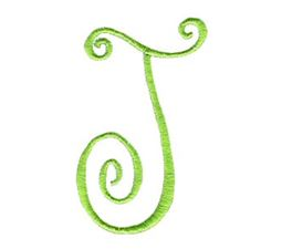 Swirly Alphabet Capital J