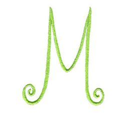 Swirly Alphabet Capital M