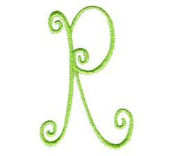 Swirly Alphabet Capital R