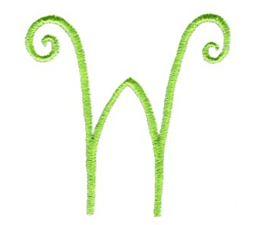 Swirly Alphabet Capital W