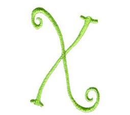 Swirly Alphabet Capital X