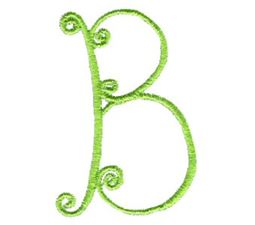 Swirly Alphabet Capital B