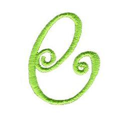 Swirly Alphabet Lower Case e