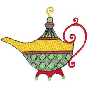 Embroidery Design Set - Teapot Whimsy 1