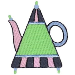 Embroidery Design Set - Teapot Whimsy 12
