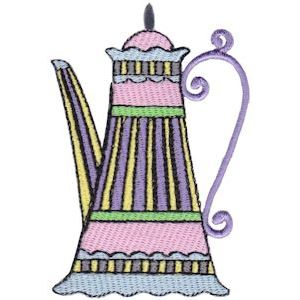 Embroidery Design Set - Teapot Whimsy 14