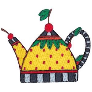 Embroidery Design Set - Teapot Whimsy 2