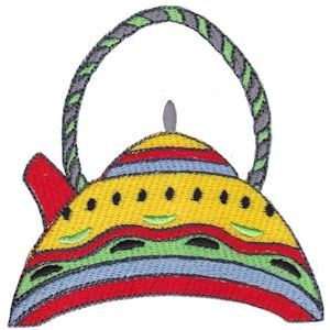 Embroidery Design Set - Teapot Whimsy 3