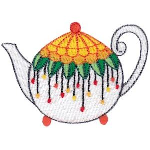 Embroidery Design Set - Teapot Whimsy 5