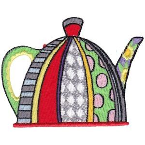 Embroidery Design Set - Teapot Whimsy 6