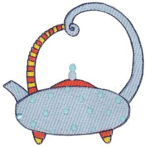 Embroidery Design Set - Teapot Whimsy 7