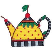 Embroidery Design Set - Teapot Whimsy
