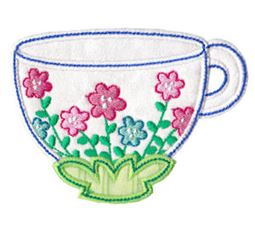 Time For Tea Applique 10