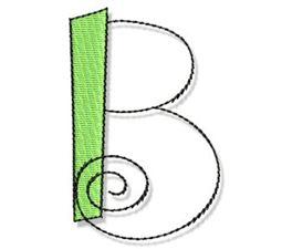 Whimsy Alphabet Capital B
