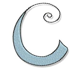 Whimsy Alphabet Capital C