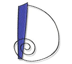 Whimsy Alphabet Capital D