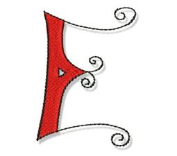 Whimsy Alphabet Capital E