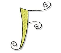 Whimsy Alphabet Capital F