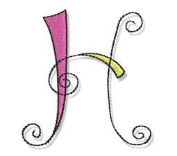 Whimsy Alphabet Capital H