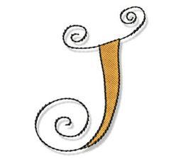 Whimsy Alphabet Capital J
