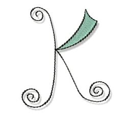 Whimsy Alphabet Capital K