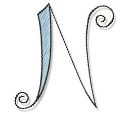 Whimsy Alphabet Capital N