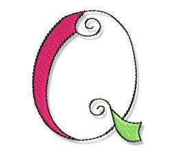 Whimsy Alphabet Capital Q