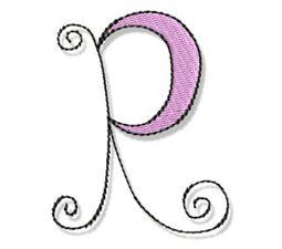 Whimsy Alphabet Capital R