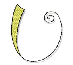 Whimsy Alphabet Capital U