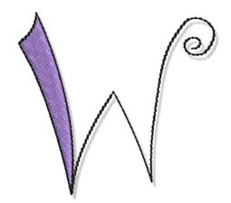 Whimsy Alphabet Capital W