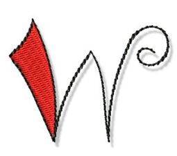 Whimsy Alphabet Lower Case W