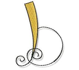 Whimsy Alphabet Lower Case B