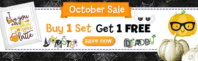 October Sale - Buy One Get One Free