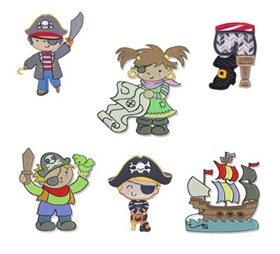 Bunnycup Embroidery Pirate Designs