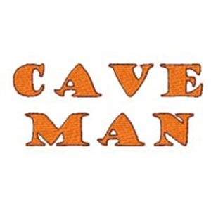 Embroidery Design Set - Caveman 5