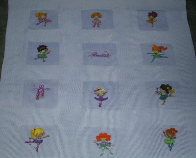 Joans Ballet Cuties Knitted Blanket