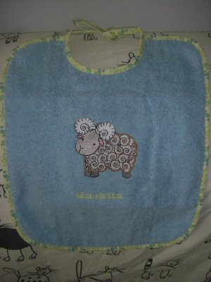 Florences Farmyard Applique Bib