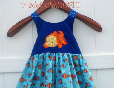 Ambers My Pet Applique Girls Dress