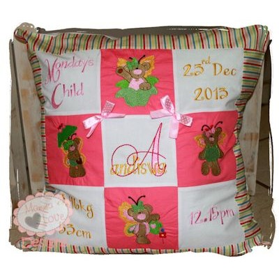 Katherine Butterfly Bears Pillow