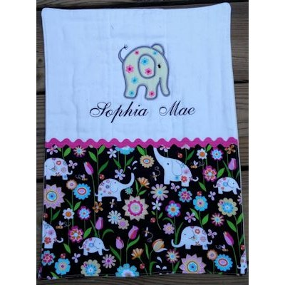 Catherine Little Elephant Burp Cloth