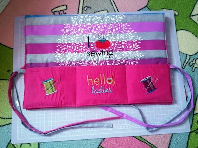 Ikleel Adorable Sentiments Sewing Organizer