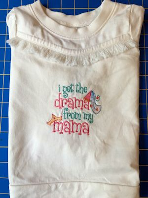 Christy Baby Girl Sentiments Girl Shirt Aug 16