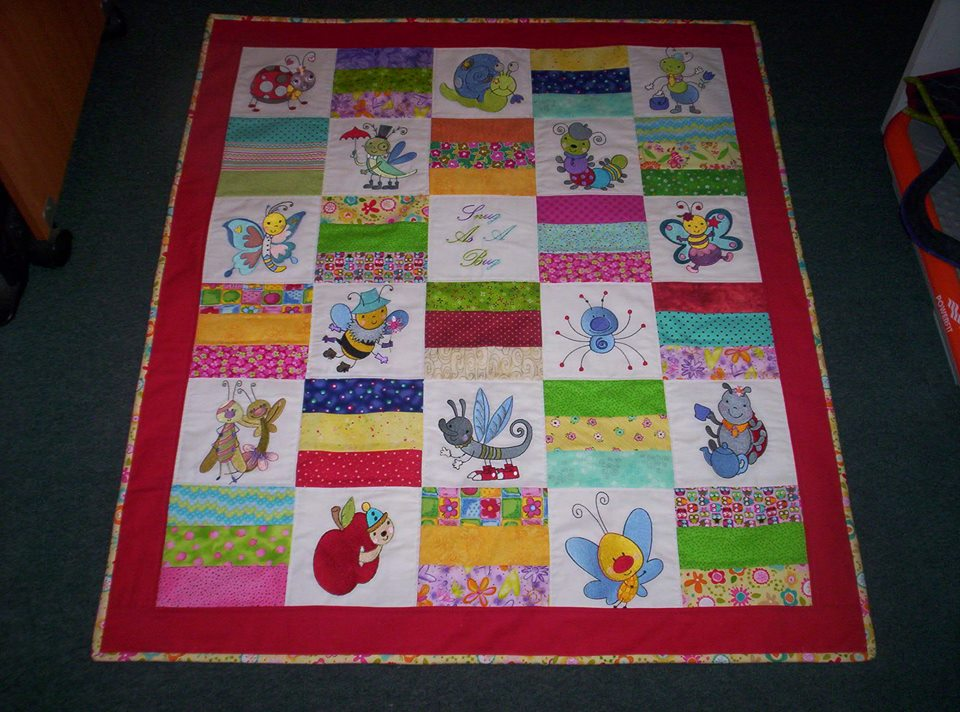 Pam Bugs Quilt Aug 16