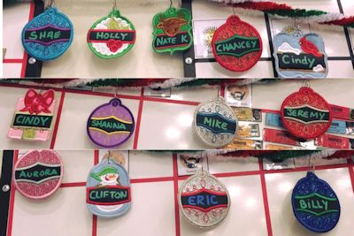 Cindy Christmas Tags Applique Ornaments