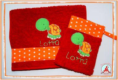 Frans Reptiles Applique Towel Set