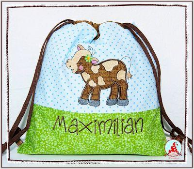 Frans Farmyard Applique Bag Dec15